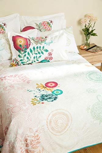 Desigual Copriletto Essential 180* 270couvre- Bett eine Person Baumwolle weiß 270x 180cm
