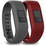 Garmin Vivofit 3 Bracelet pour Smartphone/Tablette Taille XL Gris requin/Rouge marsala