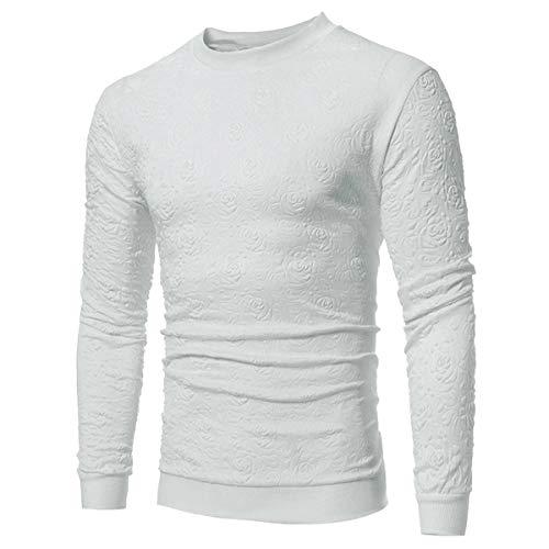 B-commerce Männer Langarm - 2019 Frühling Einfarbig Bedruckt O Neck Business Regular Fit Basic Tops Bluse Mode Leichte Pullover