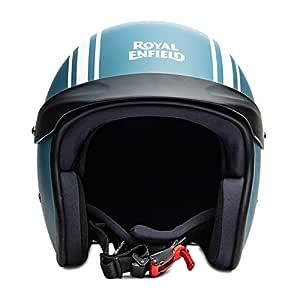 Royal Enfield Matt Blue Open Face with Peak Helmet Size (L)60 CM (RRGHEI000085)