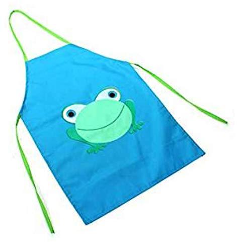 Hemore Schürze für Kinder, wasserdicht, Cartoon-Frosch, Bedruckt, zum Kochen (grün) -