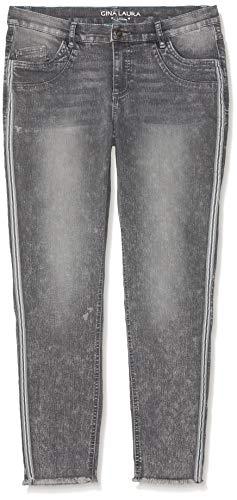 Gina Laura Große Größen Damen Skinny Jeans Julia knöchellang Fransensaum, (Blau 93), (Herstellergröße: 48) - Skinny Für Größe Frauen Jeans 22