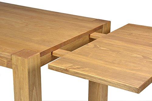 Naturholzmöbel Seidel 2 Ansteckplatten 40x80cm für Esstisch Rio Bonito 120×80, 140×80, 150×80 und 160x80cm, Pinie Massivholz, geölt und gewachst, Tisch