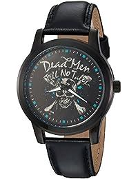 Disney Men's 'Pirates' Quartz Metal Casual Watch, Color:Black (Model: WDS000376)