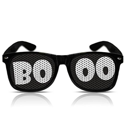 Halloween Zubehör Gespenst Geist Halloween Accessoires Brille Booo Halloween Gadgets (Nerd schwarz) (Halloween Nerd Zubehör)
