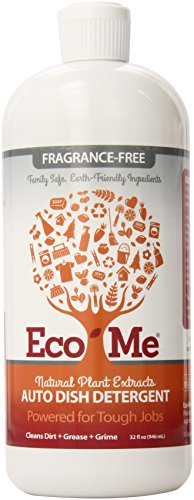 Eco-Me Auto Dish Soap, Fragrance-free, 32 Fluid Ounce