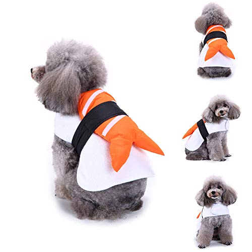 AxssjS Lustige Lachs-Sushi-Haustier-Kleidung warme Verpackungs-Hundekatze-Halloween-Weihnachtsfest-Kleidungs-Kostüm M