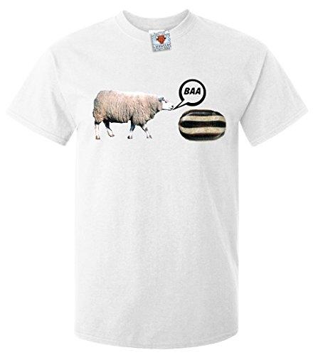 n T-Shirt Baa Humbug (Weiß, Klein) (Humbug Kostüme)