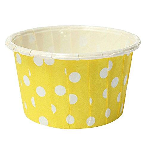 TOOGOO 20pcs emballage en papier de gateau a coupe de Muffin etuis de Dessert coupe de cuisson jaune
