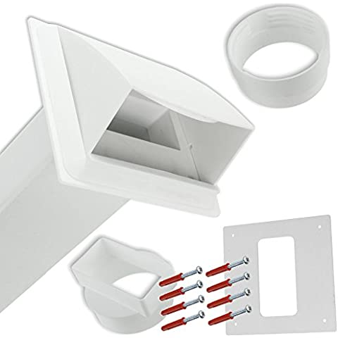 SPARES2GO PVC muro Vent-Kit per carenatura per Lamona sfiato asciugatrice, colore: bianco