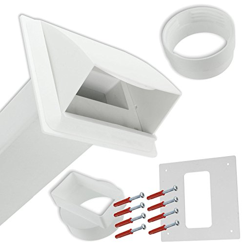 SPARES2GO PVC muro Vent-Kit per carenatura per Siemens sfiato asciugatrice, colore: bianco