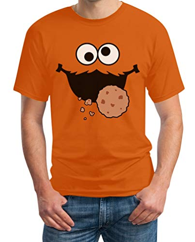 Keks-Monster Krümel Kostüm Herren T-Shirt XX-Large Orange ()