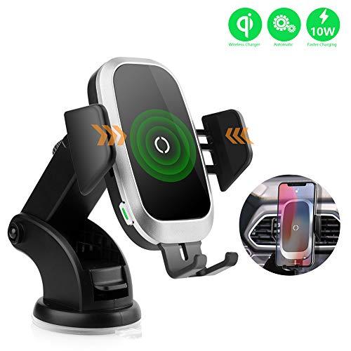 NeotrixQI Wireless Charger Auto ladekabel, Smartphone Halterung Kfz Kabelloses Induktive Ladestation Handyhalter Kompatibel für iPhone XS Max/Xr/X/8 Plus,Samsung Galaxy S10/S9/S8/S7,Huawei Mate 20 Pro
