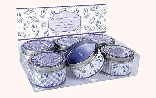 """Dosenkerze \""""Lavendel\"""" mit Lavendelduft 1 pro Kauf groß Ø 8cm Höhe 5cm NEU Wachskerze"""