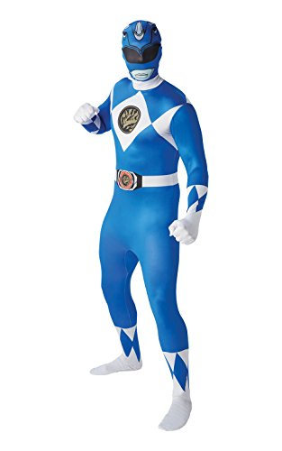 Mighty Morphin Power Rangers Blue Ranger - Adult 2nd Skin Costume Men : MEDIUM