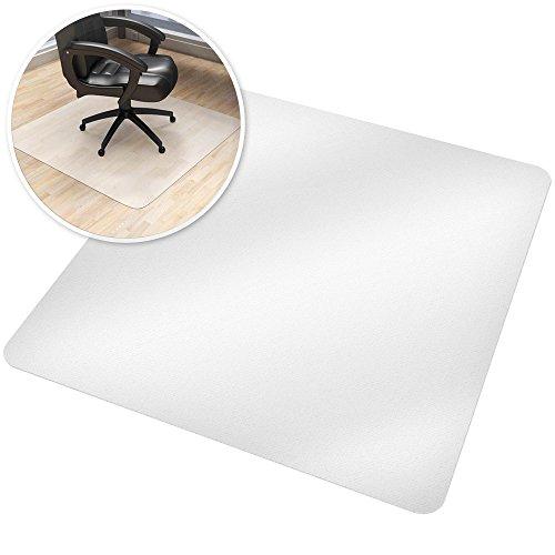 TecTake Bodenschutzmatte transparent Schutzmatte Bodenmatte für Teppichböden oder Parkett 120x130cm