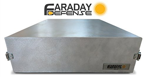 Faraday defensa–sólido y de metal jaula de Faraday, Bug Out Box, EMP protección, solar Flare, RF RFID bloqueo