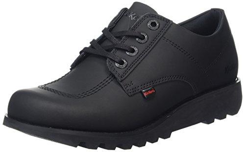 Kickers Kick Lo C, Zapatos de Cordones Derby para Hombre, Negro Black, 42 EU