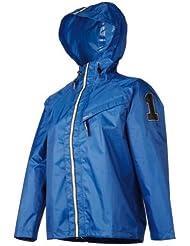 AGU Regenanzug Splash - Chubasquero para niño, color azul, talla 10 años (140 cm)