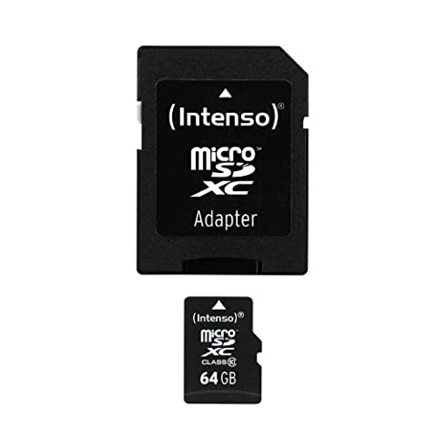 Intenso Micro SDXC 64GB Class 10 Speicherkarte inkl. SD-Adapter