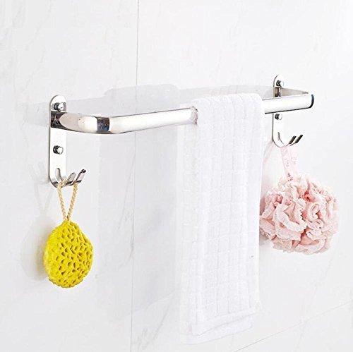 GuoEY Dry-Towels und Badezimmer Wand, Einlegeböden aus Edelstahl 304 Pure Single Bar Dry-Towels Badezimmer Zubehör Ausstattung des Hotels (Bar Load Single)