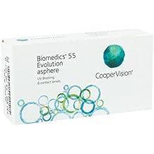 Biomedics 55 Uv Evolution  - Lentes de contacto esféricas mensuales (R 8.6 / D 14.2 / -2.5 Diop), Pack de 6 uds.