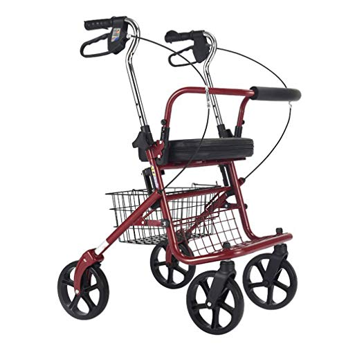 LSAMX Drive Medical Four Wheel Rollator Roll