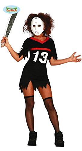 (sexy Hockey Killerin Kostüm für Damen Gr. M und L, Größe:L)