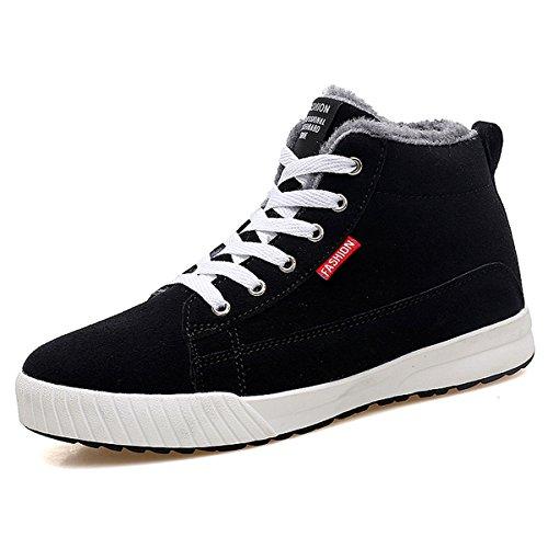 Sneaker, Gracosy Unisex Winter Schuhe Warm Gefütterte Freizeitschuhe Outdoor Schuhe Bequem mit Innenfell für Herren Damen Schwarz 40