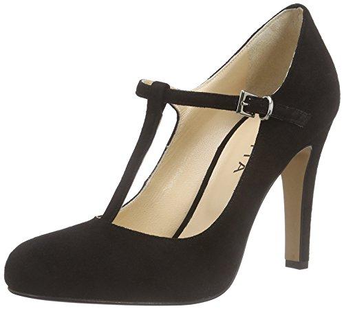 Evita Shoes Pump, Escarpins femme Noir - Schwarz (schwarz 10)