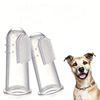 Branded SLB Works New 6-Pack Pet Finger Toothbrushes, Dog Tooth Cleaner Teeth Cleaning Dental Care E1P3