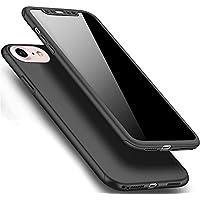 Móvil para iPhone 6S Plus, iPhone 6Plus Teléfono Móvil Protección completa tanque Case gratis Vidrio, herbests [Thin Fit] Completo Protección 360grados de rígida en un ajuste perfecto de Premium 2piezas de PC Funda protectora fina Antihuellas, antiarañazos de funda para iPhone 6/6s Plus de Color Rojo