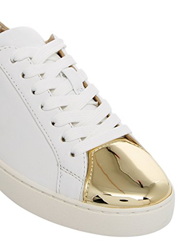 Damen Schuhe Sneakers MICHAEL KORS Frankie Leather Optic White Gold Mirror New Weiß