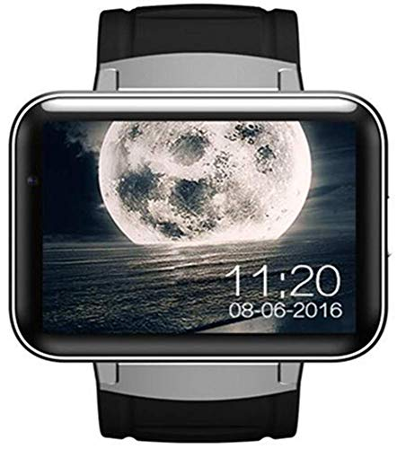 OJBDK Smart Watch Android with Big Touch Screen Quad Core GPS WiFi 3G Camera SIM Card Anti-Lost Support Video Call Fitness Watch Mobile Phone,Silver 3g Mobile Video Support