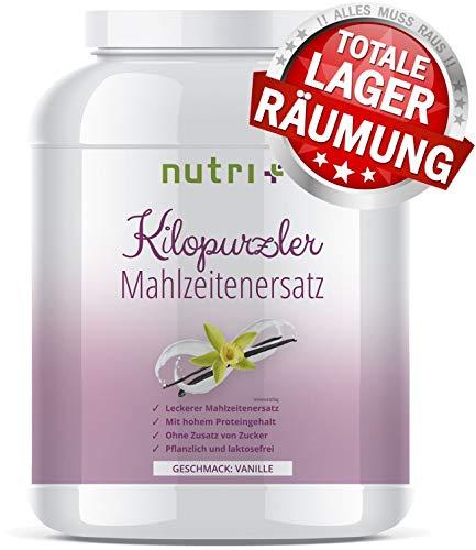 DIÄTPULVER Vanille - 20 Shakes - 1kg Pulver - Pflanzlicher Mahlzeitersatz Kilopurzler - ohne Zucker - vegan - laktosefrei - Diät Shake zum Abnehmen - Hergestellt in Deutschland