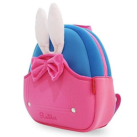 Girl's Little Backpack,BINGONE,Messenger Bag Casual Daypacks for Kids Pink Rabbit Best Gift