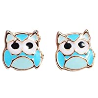 htrdjhrjy Practical Girls Earrings Flamingo Owl Cartoon Earrings Cute Animals Umbrella Jewelry Stud Earrings for Girls Teenages Adults for Women & Girls(None owl)