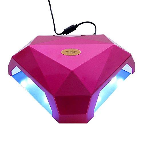YXZN LED-Nagel-Lampe 60w Zwei Hände Maniküre und Pediküre Nagellack-Trockner Aushärtung tragbare kontrollierbare professionelle Nageltrockner, pink - Aushärtung Trockner