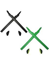 HKUCO Black/Green Replacement Silicone Leg Set For Oakley Crosslink Sunglasses Earsocks Rubber Kit