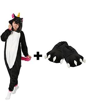 Très Chic Mailanda Pigiama Donna Uomo Unicorno Cosplay Animato Costume Camicie da Notte Carnevale Halloween