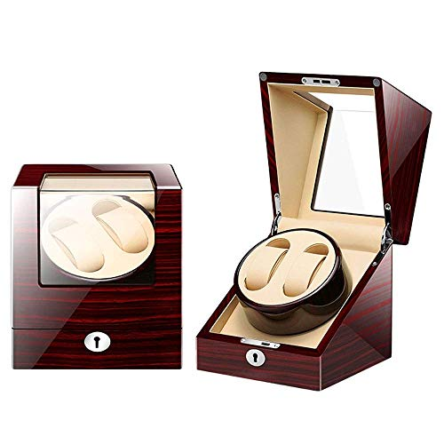 SuRose Automatico Watch Winder Box 4 modalità Wood Shell Piano Paint