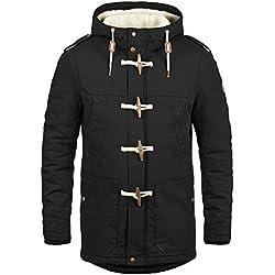 !Solid Forster Veste d'hiver avec Peau De Mouton Blouson D'Extérieur pour Homme À Capuche 100% Coton, Taille:XXL, Couleur:Black (9000)