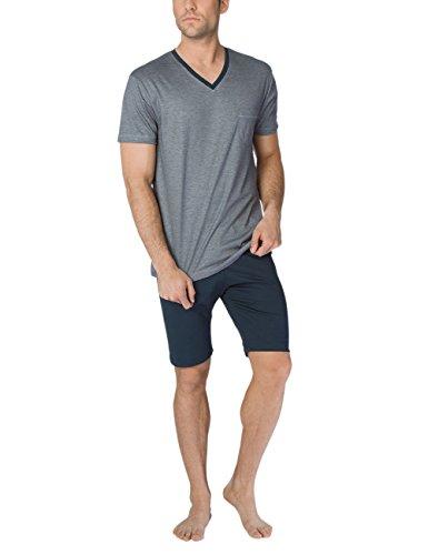 Calida Zweiteiliger Schlafanzug Comfy Zone Herren Pyjama kurz, Schwarz (Onyx 808), Medium