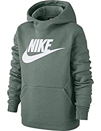 Nike B NSW Po Hoodie Club FLC Hbr Sudadera, Niños, Vintage Lichen/White