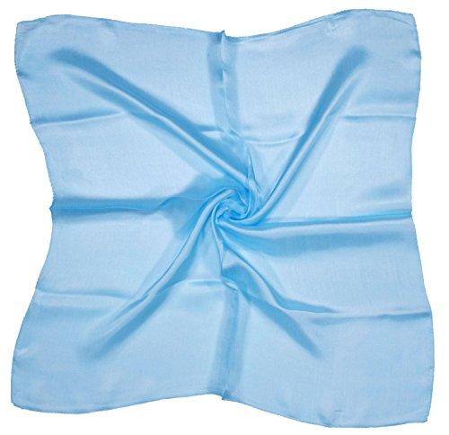Light Blue Small Fine Silk Square Scarf