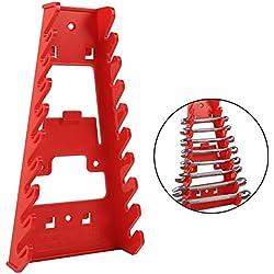 Clé à Pipe, Support de Fixation Murale, Support, Plastique logement 9Clés Rack Standard Organiseur Support Outils Clés Keeper