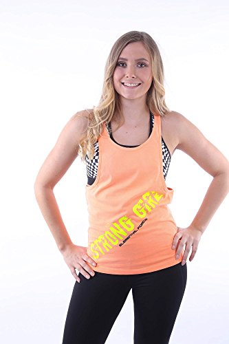 LADIES / DAMEN Fitness TANK TOP Orange locker, lässiger schnitt mit Elemental Force