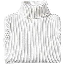 Jersey de Cuello Alto Niños Niñas Suéter Grueso de Otoño Invierno Prendas  de Punto de Manga 5ea15bedcf71