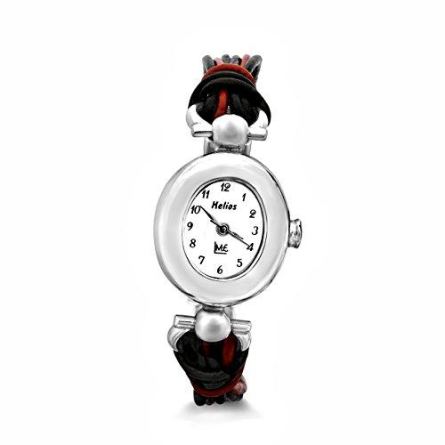 Handarbeit Uhr Damen Armbanduhr massiv 925 Sterling Silber #1924