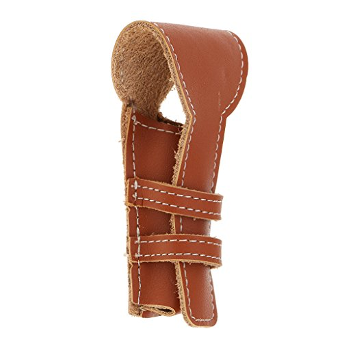 Segolike Durable Stylish Leather Cover Case Protective Travel Holder Pouch for Safety Classic Double Edge Shaving Tool